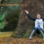 Autumn location portraits in Oakham, Rutland